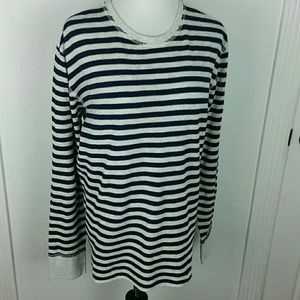 LUCKY BRAND l Striped Thermal Pullover